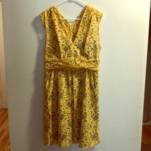 Yellow and Blue Lace Anthropologie Dress